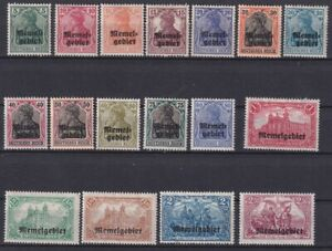 ALLEMAGNE MEMEL 1920 Série complète YT 1-17 Mi 1-17 N*/MH cote YT 77,50 €