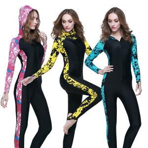 Womens Wetsuit Anti-UV Pad Diving Suit One-Piece Full Body Swimming ... 0edde7527