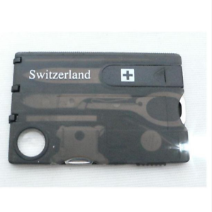 New Swiss Knife 12 In 1 Credit Card Multitool Knife Blade Business