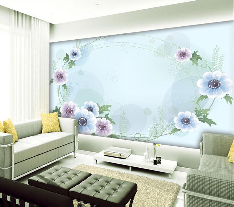 3D Blaumenkunst Design 99 Tapete Wandgemälde Tapete Tapeten Bild Familie DE  | Zu einem niedrigeren Preis  | New Products  | Perfekt In Verarbeitung