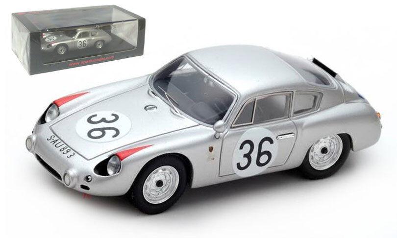 SPARK S4682 Porsche 356B GTL ABARTH  36 Le Mans 1961-Linge Pon échelle 1 43