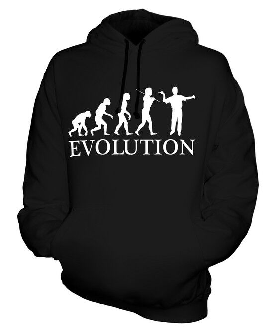 DARTS PLAYER EVOLUTION OF MAN UNISEX HOODIE  Herren Damenschuhe LADIES GIFT CLOTHING