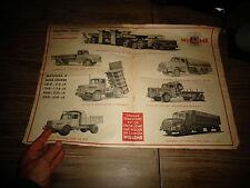 Page Publicitaire Ancien Camion WILLEME Scari , Autocar Floirat-Latil Isobloc
