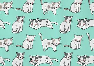 A1-Adorable-Cat-Drawing-Poster-Print-Size-60-x-90cm-Cute-Cat-Poster-Gift-15886