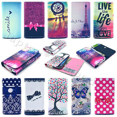 Popular Universal Flip PU Leather Wallet Card Case Cover For Sony Xperia Phones