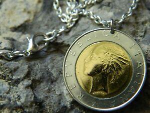 Coin Pendant Necklace Roman Mercury