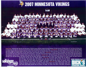 Details About 2007 MINNESOTA VIKINGS 8X10 TEAM PHOTO JACKSON WADE NFL FOOTBALL USA