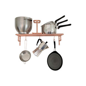 Details About Copper Pot And Pan Rack Wall Mounted Storage