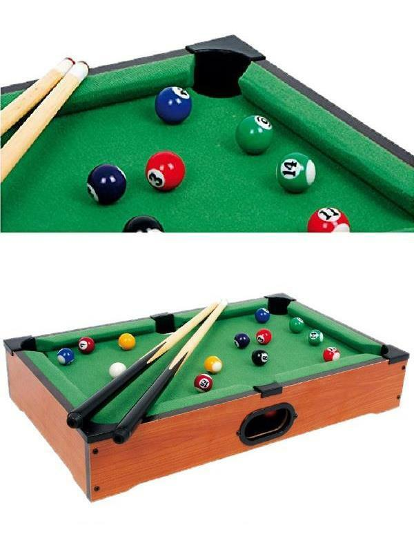 Gioco Mini Biliardo da tavolo stecche stecche stecche palle gessi triangolo 00085 a222d2