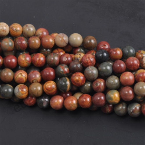 10//20//30//40PC Natural Stone Gemstone Round Spacer Charm Loose Beads Craft