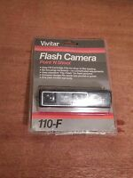 Vintage Vivitar 110-f Point And Shoot Pocket Camera + Case 061822 Brand