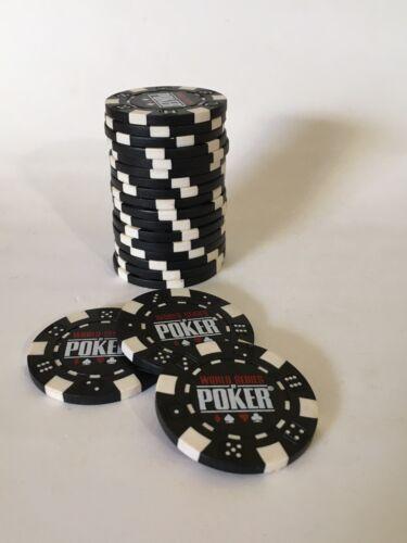 Black White World Series Poker Chips X 20 Toys Hobbies 800battery Card Games Poker