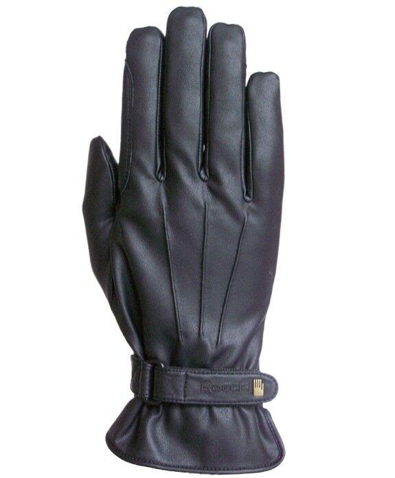 Roeckl WAGO zwart en steengewassen winterhandschoen