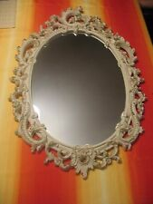 """Syroco decorative gothic mirror 29""""x20"""" vintage Made In New York USA"""