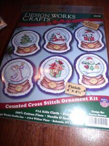 Design-Works-SNOWGLOBE-ORNAMENTS-Counted-Cross-Stitch-Kit-Make-6