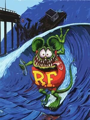Rat Fink Drinking Surfer Plasma Cut Big Daddy Ed Roth Metal Sign