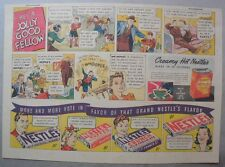 Nestle's Chocolate Bars Ad: He's A Jolly Good Fellow ! 1930's-1940's 11 x 15