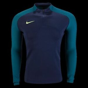ebfc60b1 Nike Strike Aeroswift 1/4 Zip Soccer Drill Top 807034-451 Obsidian ...