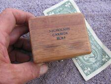 Nicholson Carbiset 100 Solid Carbide Burr Set Machinist Toolmaker Tool