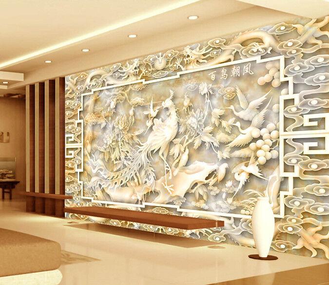 3D Phoenix Dragon 732 Wall Paper Murals Wall Print Wall Wallpaper Mural AU Kyra