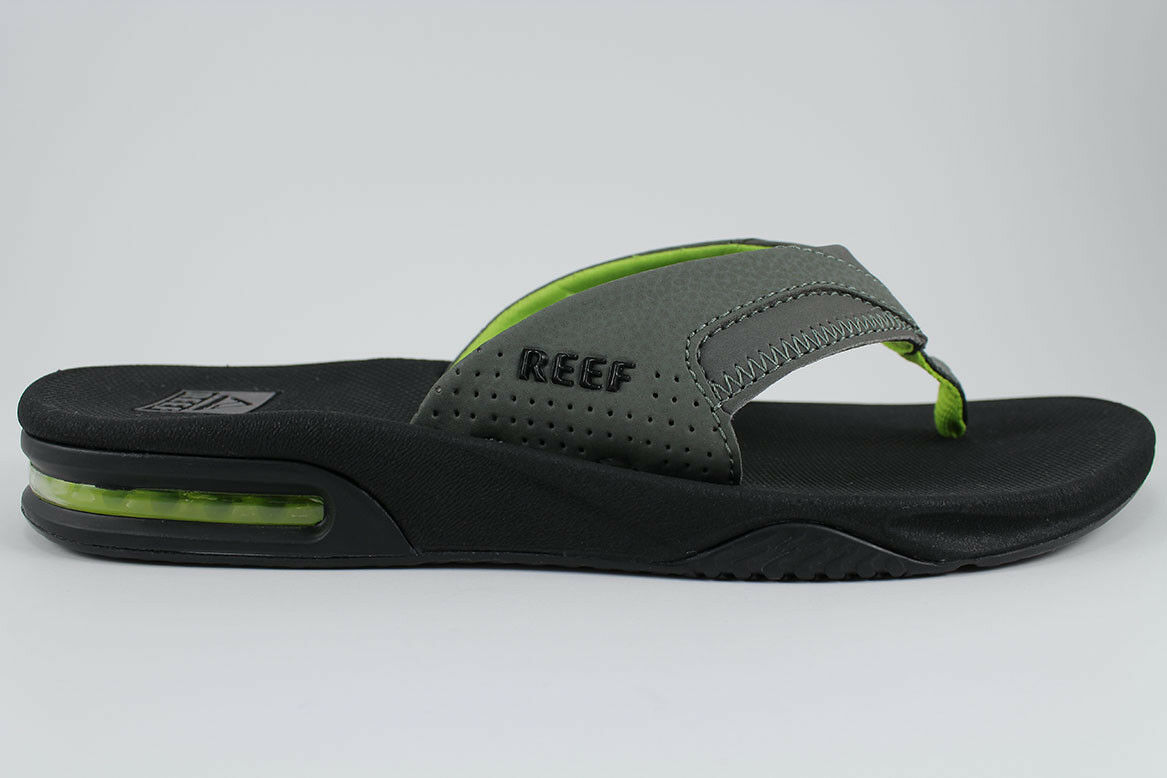 REEF BEACH FANNING BLACK/GREEN/GRAY FLIP FLOPS THONG SANDALS BEACH REEF MICK US MEN SIZES 890615