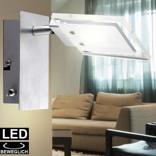 Design Wand Strahler Schlaf Zimmer Leuchte Lese Lampe Glas klar Spot beweglich
