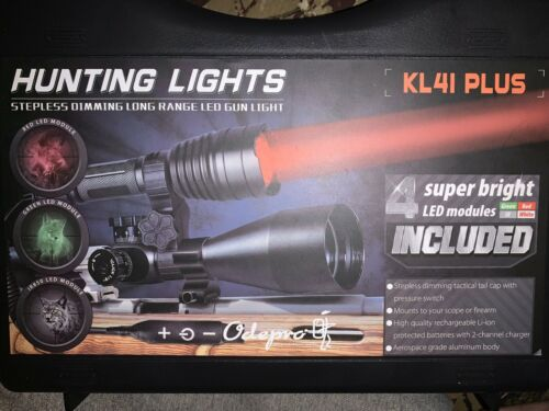 Odepro KL41 plus de Chasse Lampe Kit Feu rouge feu vert lumière blanche IR850