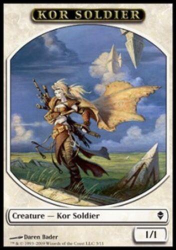 * mrm fr 4x kor and soldier-kor soldier 1//1 zendikar mtg magic token token