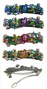 Bella-Flower-Hair-Barrette-Hair-Clip-with-French-Clip-Clasp-YY86900-2