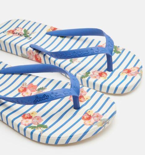 Blue Floral Joules Flip Flops