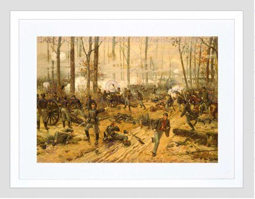 WAR AMERICAN CIVIL BATTLE SHILOH USA NEW BLACK FRAMED ART PRINT B12X11972