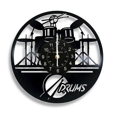 Music Jazz Rock Musician Instruments Notes Vinyl Wall Clock Birthday Gift Ideas