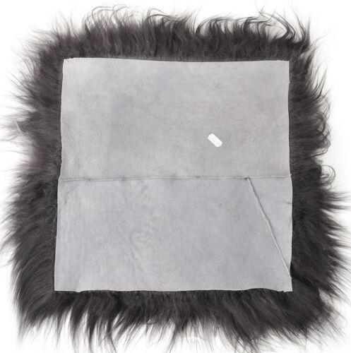 Éco Islande Peau Lainee Pad Siège Édition coussins de chaise Foncé Gris 37 x 37 cm
