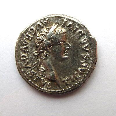 **Tiberius Silver Denarius 14-37AD**