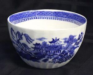 Transferware-Bowl-Alcock-039-s-Semi-China-Blue-pattern-Vintage-Late-1800-039-s