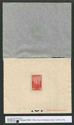 Hilfreich Maroc Epreuve De Luxe 1939 Mosque Mosquee Luxusblock Deluxe Sheet Rare!! Z2305 Schnelle WäRmeableitung