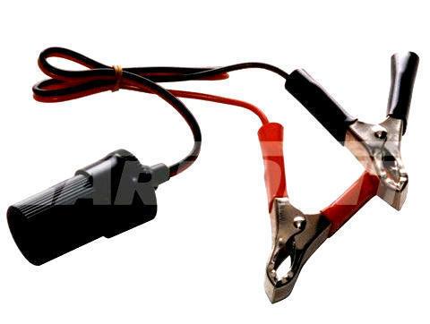 12 voltios 12v abrazadera de la batería con Encendedor de cigarrillos