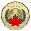 thumbnail 1 - 2020 Canada 75th anniversary of UN Charter COLOURED $1 Loonie