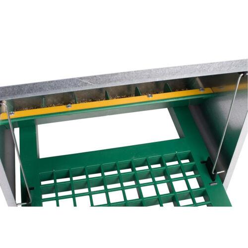 8 kg Futterautomat mit Trittklappe Feedomatic Geflügel Futter Automat Futtersilo