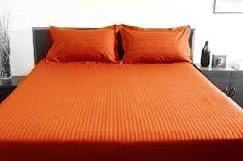 Bett Sheet Set Orange Stripe RV Camper & BUNK Bett All Größes 1000 Thread Count
