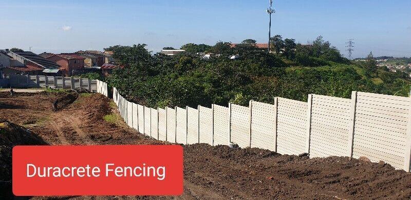 duracrete fencing|precast fencing|retainer blocks|repairs|wall  raising|gates|
