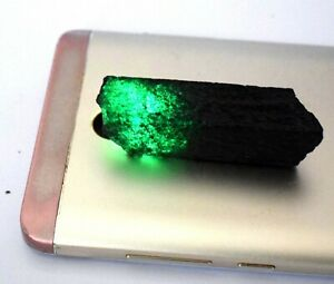 Gift Sales 133 Ct Colombian Emerald Gemstone Slice Rough Natural Certified S6679