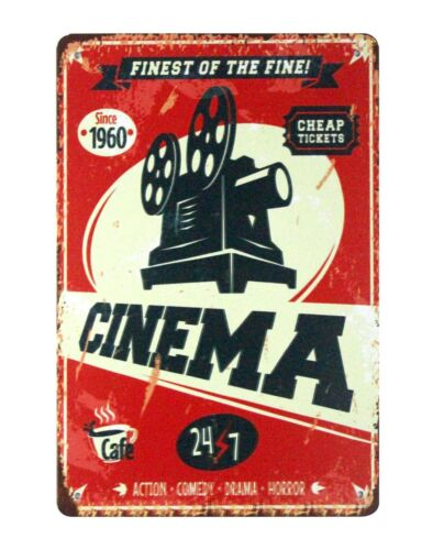 plaque retro home decor Finest of the fine Cinema tin metal sign