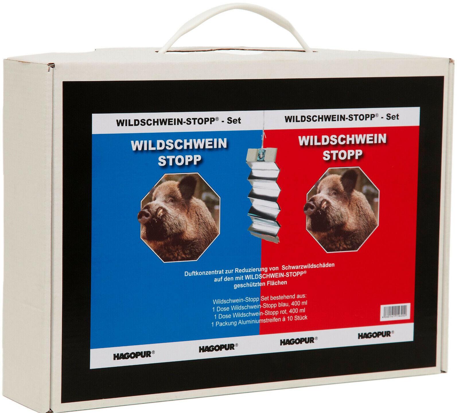 Wildschwein STOPP Set Set Set vergrämen von Schwarzwild Wildschadenverhütung H-260 4312bd