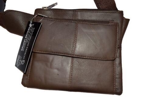 """Flat Waist Pouch Leather Mini waist bag Small Waist pouch Fanny Pack up to 45/"""""""