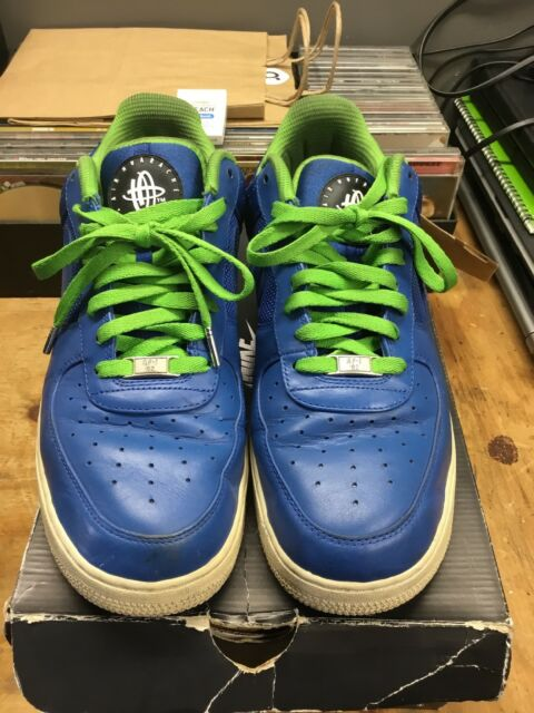 nike air force 1 1 force faible prime hommes taille 12, bleu vert lime 936637
