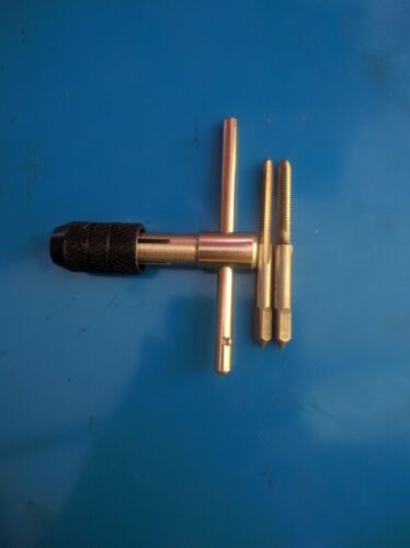 Plug T-handle Tap Wrench RH 2x tungsten steel Hand tap taper M4 x 0.7