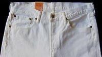Men's Levi Strauss White Jeans Pants 29x32 Original Fit 501 Awesome