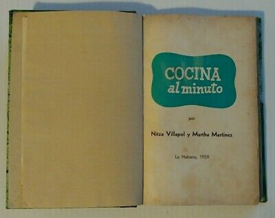 1959 Cocina Al Minuto Nitza Villapol Cooking Recipes Book With