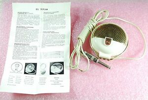 PHILIPS EL 3750 VINTAGE Dynamic microphone RARE 50's EL3750 New Old Stock